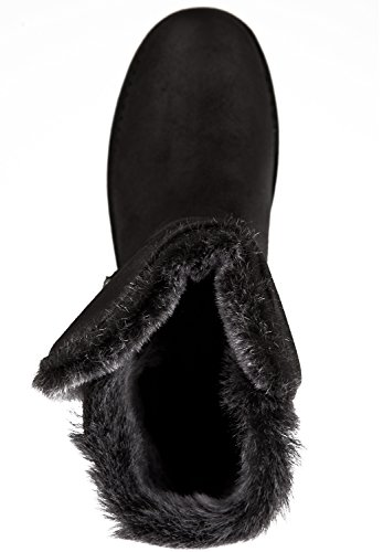 Shabbies Amsterdam Damen Buckle Strap Short Boot 17cm Merino Lammy Lining Alexia Schlupfstiefel Black