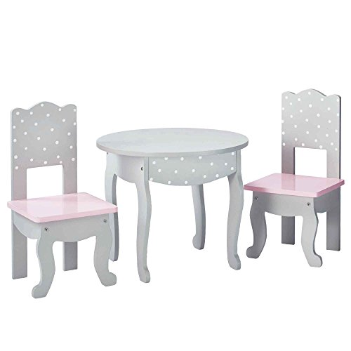 Olivia's Little World TD-0208AG - Polka Dots Princess 18 Zoll Doll Furniture - Table und 2 Chairs Set