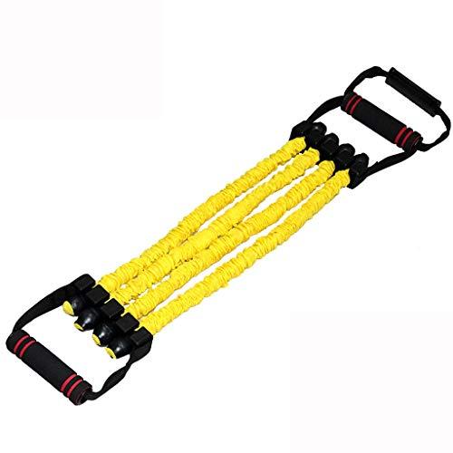 JMTLLLLQ Widerstandsgürtel, Multifunktions-Fitness-Übungsbänder Für Rallyemänner Mit Elastischem Seil Für Den Heimsport, Mehrfarbig Optional (Color : Yellow (80 lbs)) 80 Lb Arm