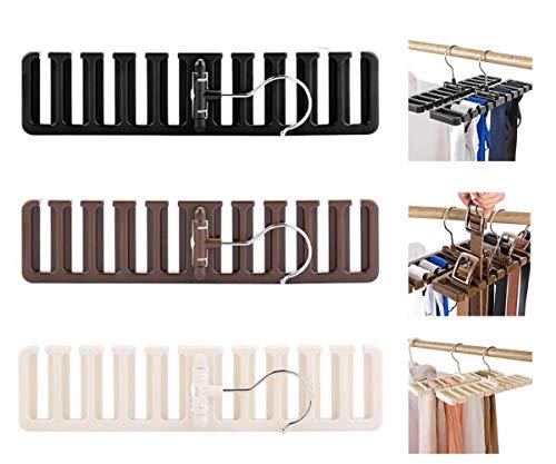 Biluer Armadio Portacinture Portacravatte Organizzatore Armadio Salvaspazio per Alloggiare nellArmadio Cravatte Cinture Sciarpela Scelta Migliore per