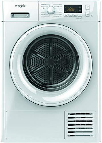 Whirlpool FTM1182FR sèche-linge Autonome Charge avant Blanc 8 kg A++ - Sèche-linge (Autonome, Charge avant, Pompe à chaleur, Blanc, Boutons, Rotatif, 120 L)