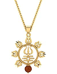 Voylla Gold Plated Pendant for Men (8907617483955)