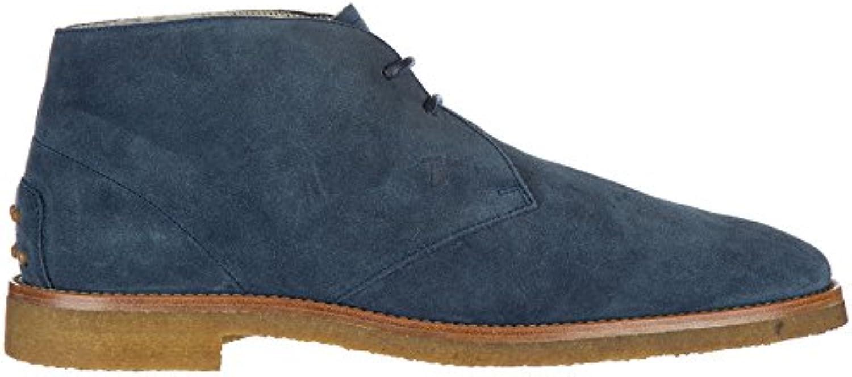 Tod's Botines Zapatos EN Ante Hombres Nuevo Caucho BLU