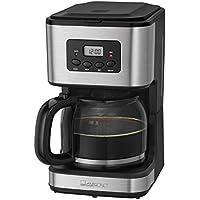Clatronic KA 3642 - Cafetera de goteo programable para 12 a 14 tazas de café, 900 W, color gris y negro