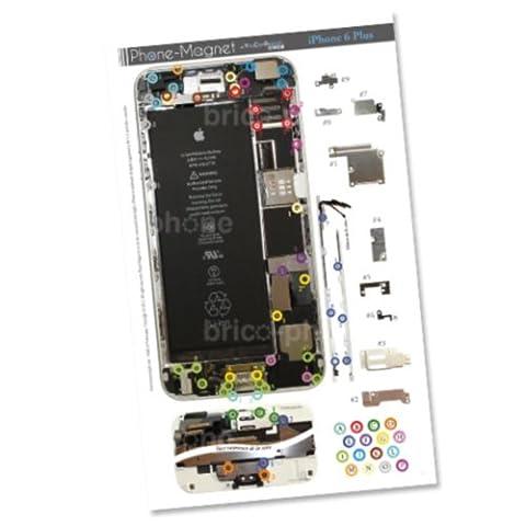 Patron magnétique d'aide au montage pas à pas pour iPhone 6 Plus pour ne plus perdre vos vis et les petits élements lors vos réparations. Un Produit exclusif