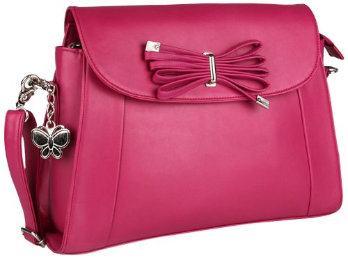 Butterflies Women's Shoulder Bag (Pink) (BNS 0337)