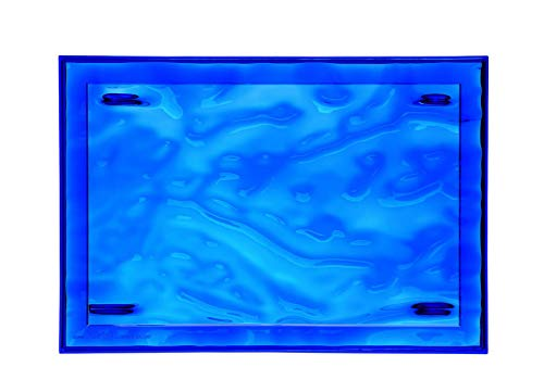 Kartell Plateau Dune Large, Plastique, Bleu, 38x55x3 cm