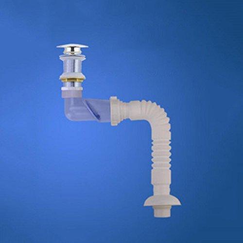Tuyau MXJ61 Lavabo Crépine Déodorant Tuyaux d'eau Salle de Bain dans Le de vidange de Mur (Couleur : Applicable to The Ground Hole)