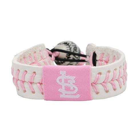 Caseys Distributing 5224600160 St. Louis Cardinals Baseball Bracelet- Pink Style