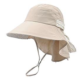 Kenmont Frauen Strandkappe Damen Sommerhut UV-Schutz