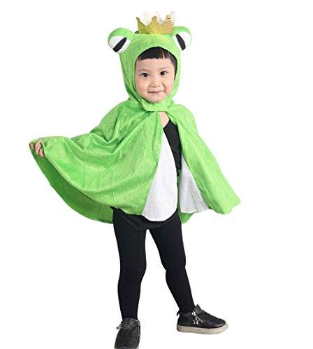 Froschkönig-Kostüm, An80/00, als Umhang für Klein-Kinder, Babies, Frosch-König Kostüme Fasching Karneval, Kleinkinder-Karnevalskostüme, Kinder-Faschingskostüme, Märchen-Kostüm