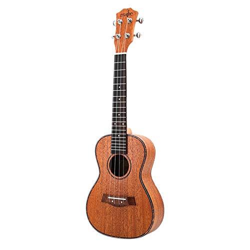 REFURBISHHOUSE - Set per ukulele da concerto da 23 pollici, in mogano, Uku, 4 corde per chitarra, con custodia, tuner, capotasto e tracolla