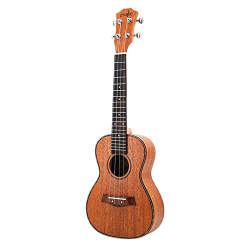 TOOGOO Konzert Ukulele Kits 23 Zoll Mahagoni Uku 4 String Gitarre Mit Tasche Tuner Capo Gurt Sting Picks Für Anf?nger Musik Instrumente (Gitarren-gurt String Mit)