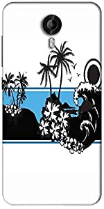 Snoogg Abstract Tropical Background Designer Protective Back Case Cover For Micromax Canvas Nitro 3 E455