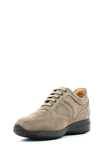 Geox U Happy Art. H, Sneakers Basses Homme, Marron - Turtledove