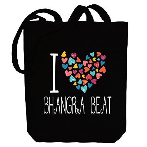 Idakoos I love Bhangra Beat colorful hearts - Musik - Bereich für Taschen -