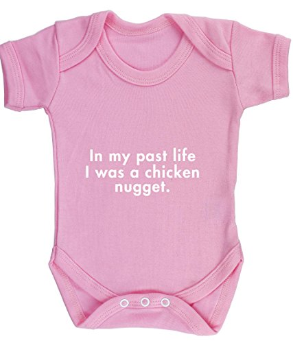 Hippowarehouse Past Life i Was a Chicken Nugget Baby Vest Bodysuit (Short Sleeve) Boys Girls