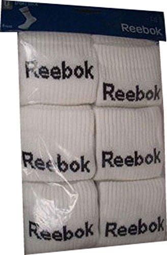 Reebok sport lot de 6 paires de chaussettes blanc k29411 taille 43–46