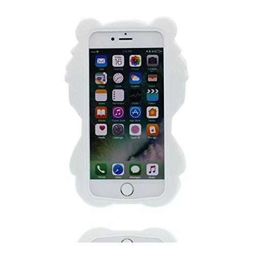 iPhone 6S Custodia, morbida guarnizione TPU in gomma antigraffio protettiva Case copertura per iPhone 6s 6 4.7 Cover + tappi antipolvere / Cartoon Progettato 3D sushi bianca