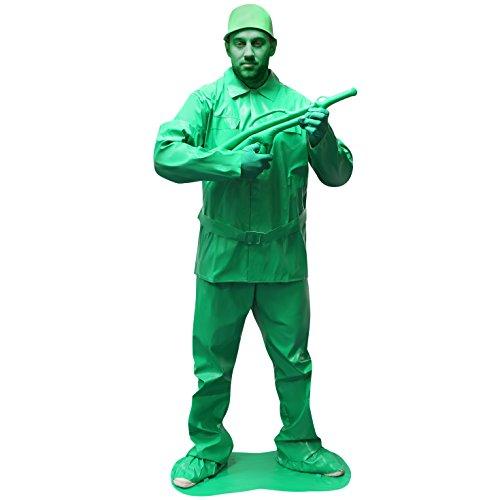 Morphsuits - Costume da Soldato, Uomo, Colore: Verde, Taglia: XL