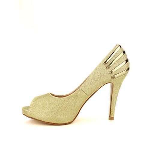 Cendriyon, Escarpin Doré BELLUCCI FASHION Chaussures Femme Doré