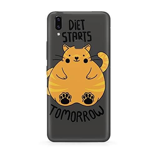 Motivate box, Diet Starts Tomorrow Funny Quote Design Printed Moto One Power(P30 Note) Back Cover