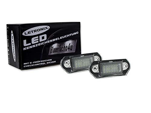 LETRONIX SMD LED Kennzeichenbeleuchtung Module Golf 3 Variant 1993-1999 / Vento 3 1992-1998 / Jetta 3 1992-1998 mit E-Prüfzeichen