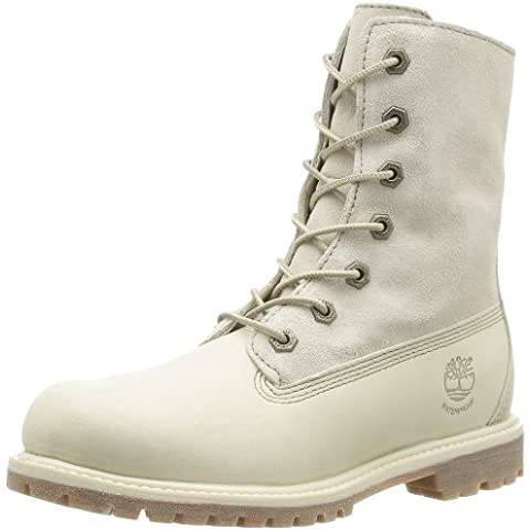 Timberland, Auth Tedy Flce Wp Of Off White, Stivali, Donna