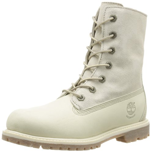 Timberland Authentics FTW_Authentics Teddy Fleece WP Fold Down 8331R, Damen Stiefel, Weiß (Winter White), EU 38 (US 7)