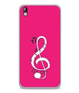 PrintVisa Designer Back Case Cover for HTC Desire 816 :: HTC Desire 816 Dual Sim :: HTC Desire 816G Dual Sim (Melody Songs Tunes Whistling Lyrics)