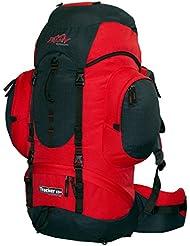 Mochila impermeable (55litros 8L tashev Tracker–Mochila de senderismo (55L), color rojo, negro, azul 63L
