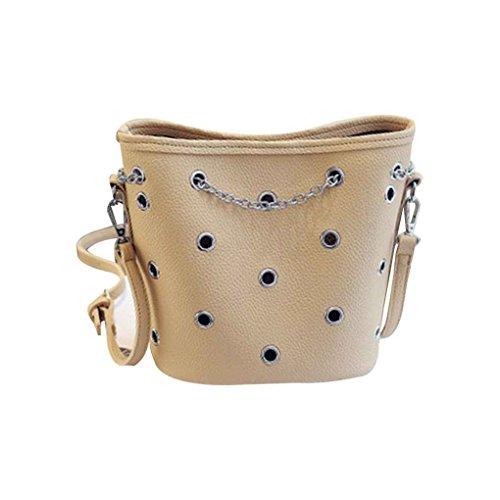 Frauen Handtasche Mädchen Eimer Composite Messenger Bag Kette Schulter Umhängetasche Cross Body PU Ledertasche (Eimer Crossbody Handtasche)