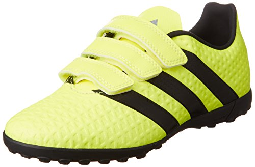 adidas Ace 16.4 Tf J H&L, Chaussures D'entraînement de Football Garçon Jaune (Solar Yellow/Core Black/Silver Metallic)