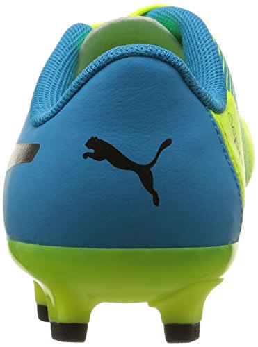 Puma Unisex-Kinder Evopower 4.3 Fg Jr Fußballschuhe Gelb (safety yellow-black-atomic blue 01)