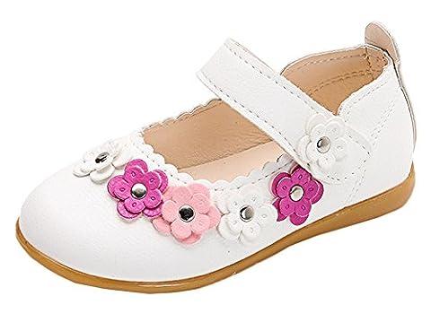 Scothen Princesse Ballerina Party Chaussures de fête fille en cuir étudiant danse chaussures Papillon Party Chaussures Talon Costume paillettes boucle Chaussures Carnaval de fête
