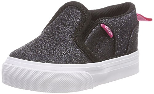 Vans Babies  Asher V Toddler Low-Top Sneakers Multicolour ((Glitter) Black 03ce2356b4a4