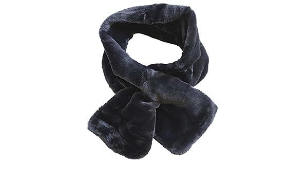 3d052aaa1aad FERETI Écharpe Femmes Laine Lapin Noir En Fourrure Mohair Teddy Tube Châle  Snood Ronde  Amazon.fr  Vêtements et accessoires