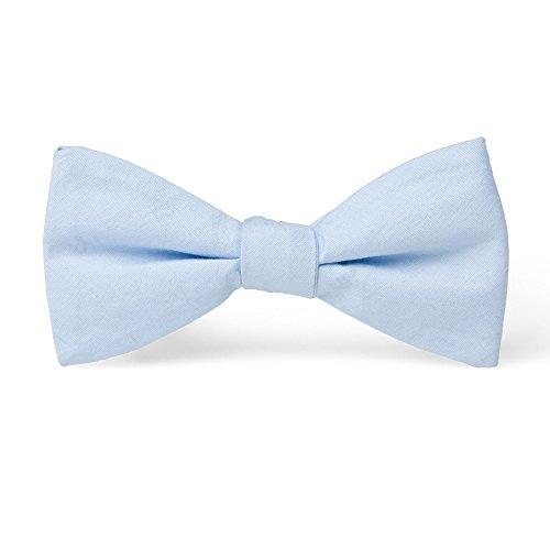 Handgenähte vorgebundene Fliege 100% Baumwolle – Pastell-Töne – Blau, Hellblau – Größe: verstellbar für Kragenweiten 37-52cm – bereits vorgeknotete Schleife für Herren von VON FLOERKE (Billig Für Anzüge Jungen)
