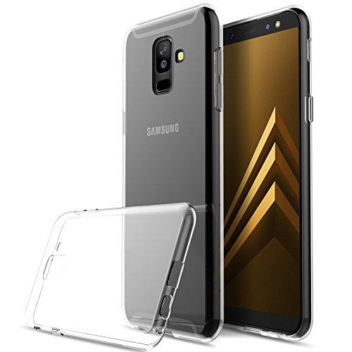 KuGi Cover Samsung Galaxy A6 Plus 2018, Custodia Trasparente Silicone Cover Morbida TPU Caso, Anti Scivolo& Anti-Urto Case per Samsung Galaxy A6 Plus 2018
