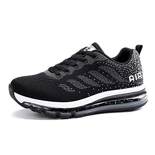 smarten Scarpe Uomo Donna Running Estive Air Scarpe Sportive per Ginnastica Fitness Corsa Walking Sneakers Black White 39 EU