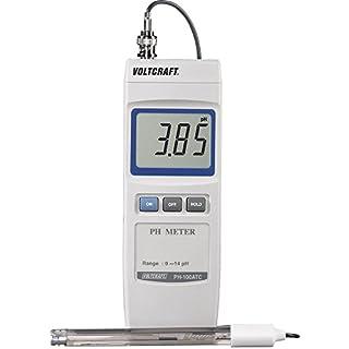 VOLTCRAFT ph-100ATC pH-Messgerät Digital 0bis 14PH kalibriert nach Standard-Fabrik