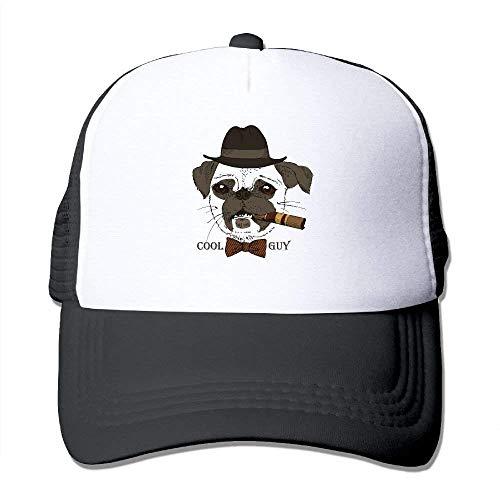 Wdskbg Cool Guy Print Adjustable Trucker Sun Hats Mesh Sports Baseball Caps Design21 - Ausgestattet Print Cap