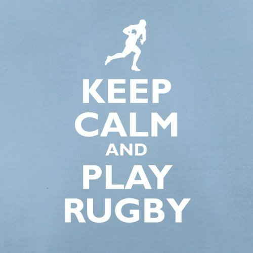 Keep Calm and Play Rugby - Herren T-Shirt - 13 Farben Himmelblau