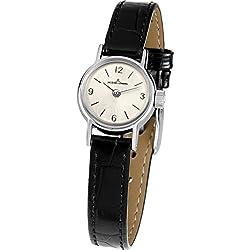 Jacques Lemans Nostalgie N-205A Ladies Black Leather Strap Watch