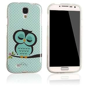 tinxi® Schutzhülle für Samsung Galaxy S4 Hülle TPU Silikon Rückschale Schutz Hülle Silicon Case mit Eule Owl Kauz Uhu Muster in Hellgrün