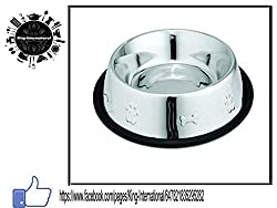King International Anti Skid Dog Bowl/ Pet Bowl Embossed - 1800ml (64 OZ)