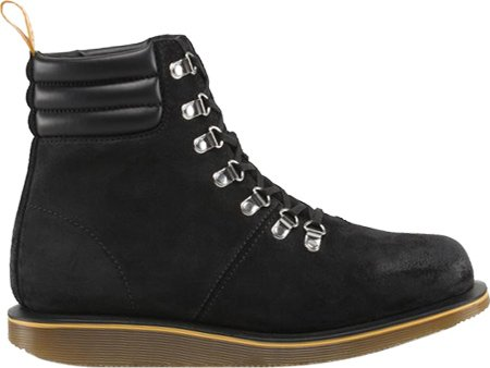 Dr Martens - Morgan Hiking 7Eye Boot - Noir Burnished Bronx Suede Noir