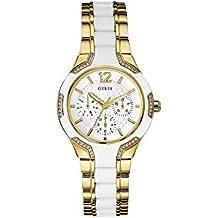 Guess Reloj Análogo clásico para Mujer de Cuarzo con Correa en Acero Inoxidable W0556L2