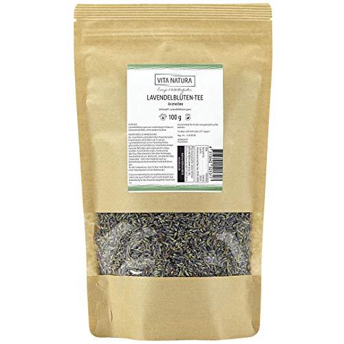 Lavendelblüten Tee | Lavendeltee lose | Apothekenqualität | Aus Frankreich | Sorte Prima | 100 g