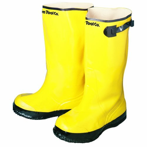 Bon 14-724 Heavy Duty Yellow Rubber Contractor's Overshoe Boot, Size 13 by BON